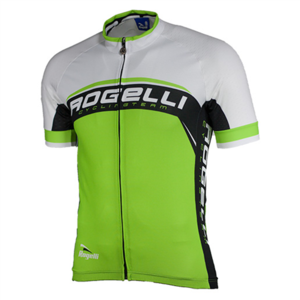 Rogelli shirt Ancona green/white/black